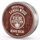 Best Deal Beard Balm with Sandalwood Scent and Argan & Jojoba Oils - Styles, Strengthens & Softens Beards & Mustaches - Leave in Conditioner Wax for Men by Viking Revolution (1 Pack)