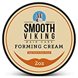 Forming Cream for Men - Hair Styling Cream for High Hold & Matte Finish - Best Pliable Formula for Modern, Classic & Slick Styles - Short, Long & All Other Hair Types- 2 OZ - Smooth Viking