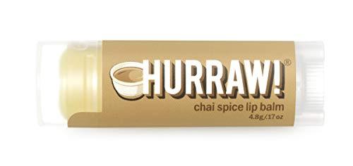 Hurraw! Chai Spice Lip Balm, 4.8g/.17oz: Organic,...