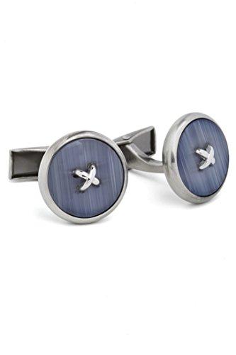 Hart Schaffner Men's Button blue Cufflinks