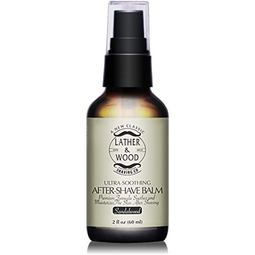 Best After-shave Balm, Sandalwood Scent, Premium...
