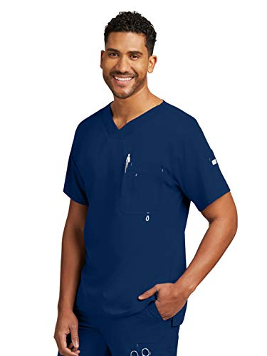 Grey's Anatomy Men's Modern Fit V-Neck Scrub Top,...