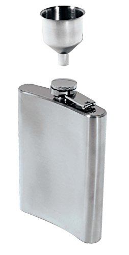 SE HQ90 8 oz. Stainless Steel Hip Flask and Funnel...