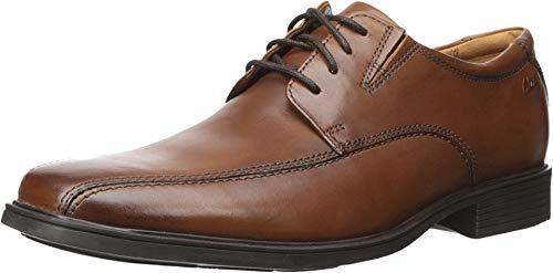 Clarks Men's Tilden Walk Oxford, Dark Tan Leather,...