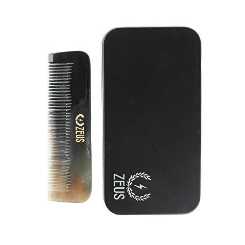 ZEUS Natural Horn Medium Tooth Beard Comb, G41