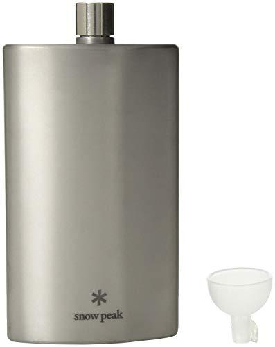 Snow Peak Titanium Flask, 5.8 Fl. Oz, T-013, Large