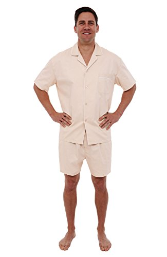 Alexander Del Rossa Mens Woven Cotton Pajama Set,...