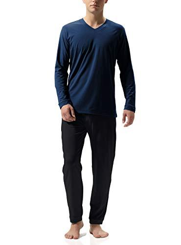DAVID ARCHY Men's Cotton Sleepwear PJs V-Neck...