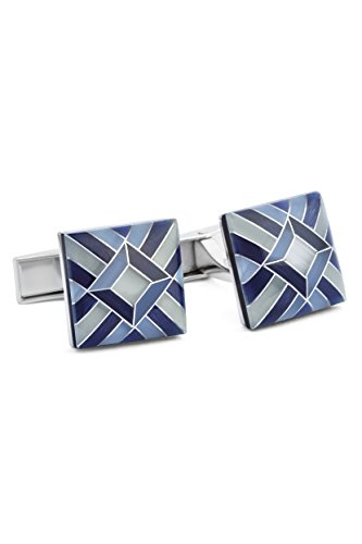 Ike Behar Men's Mosaic Cats Eye Stone Cufflinks,...