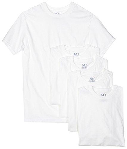 Fruit of the Loom Men's 5-Pack Crew Neck T-Shirt,...