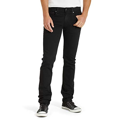 Levi's Men's 511 Slim Fit Jean, Black - Stretch,...
