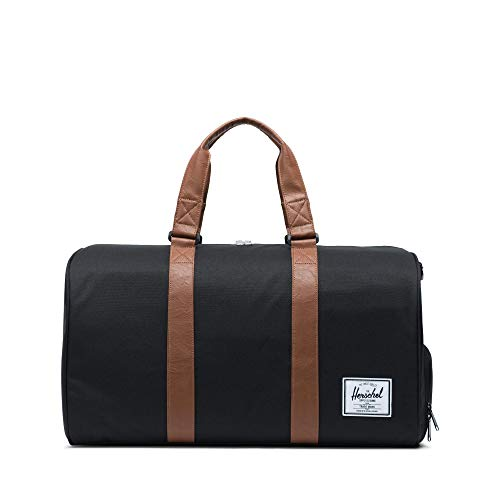 Herschel Novel Duffel Bag, Black/Tan Synthetic...