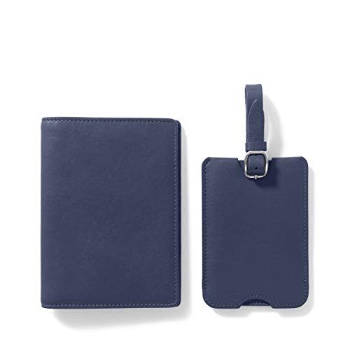 Leatherology Navy Deluxe Passport Cover + Luggage...