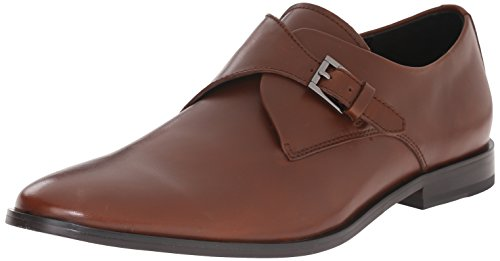 Calvin Klein Men's Norm Monk Strap, British Tan,...
