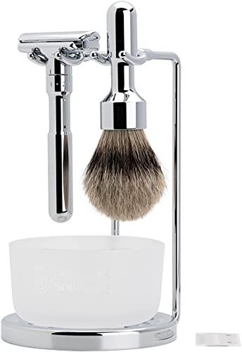 Merkur Futur 4-Piece Shaving Set, Polished Finish,...