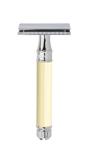 Edwin Jagger Double Edge (DE) Chrome & Ivory Color...