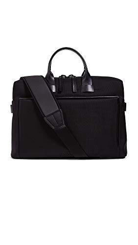 Troubadour Men's Nylon Slim Briefcase, Black, One...
