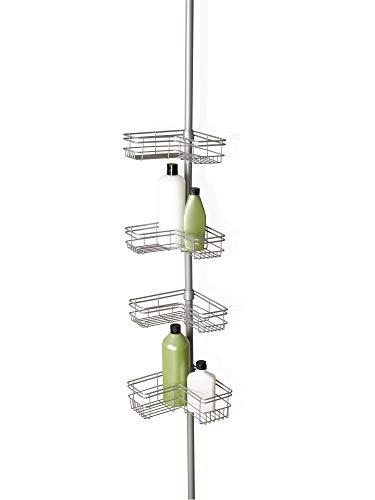 Zenna Home 2130NN Shower Tension Pole Caddy, Satin...