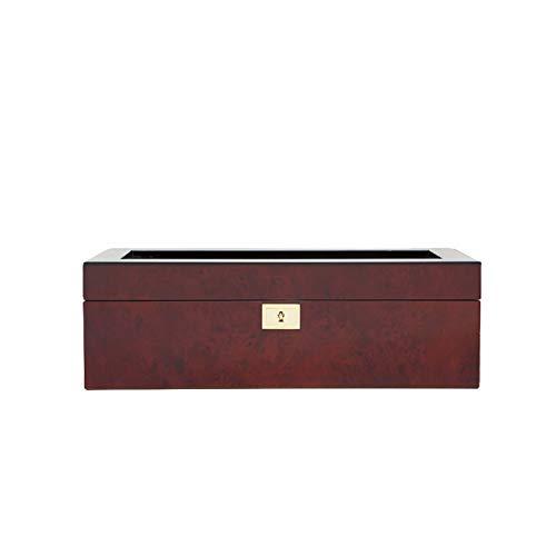 WOLF 461510 Savoy 5 Piece Watch Box, Burlwood