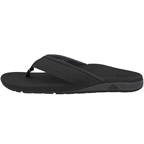 REEF Men's Ortho-Spring Flip-Flop, Black, 9