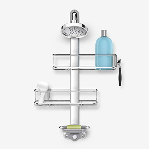 simplehuman Adjustable Shower Caddy Stainless...
