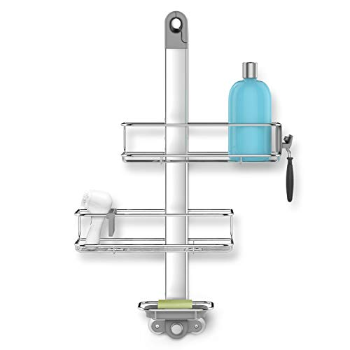 simplehuman Adjustable Shower Caddy, Stainless...