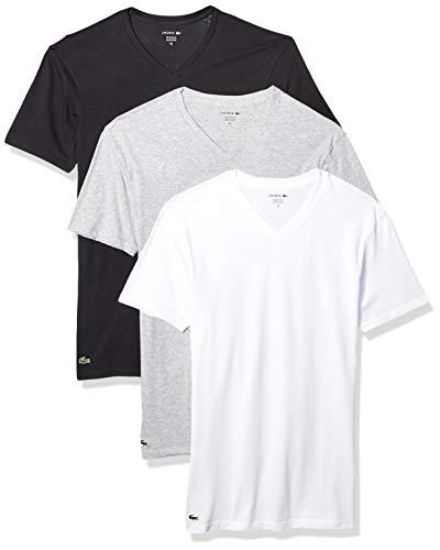 Lacoste Men's Classic Fit Cotton V Neck Tee,...