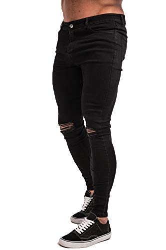 GINGTTO Men's Ripped Repaired Skinny Stretch Jeans...