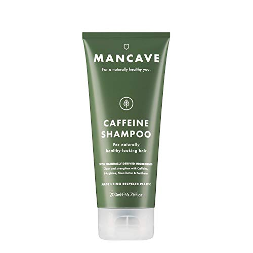 Mancave Natural Caffeine Shampoo, 6.76 fl.Ounce