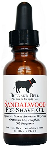 Bull and Bell Sandalwood Pre-Shave Oil - Handmade...