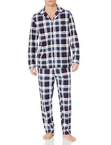 Nautica Men's Cozy Fleece Plaid Pajama Set,...
