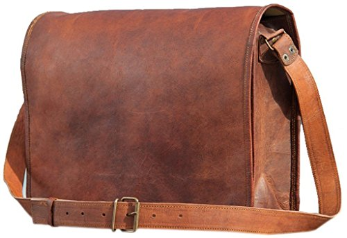 United Leather Bags Full Flap Laptop Leather...