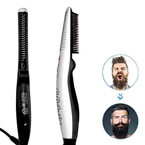 Beard Straightener Comb,Quick Electric Heated...
