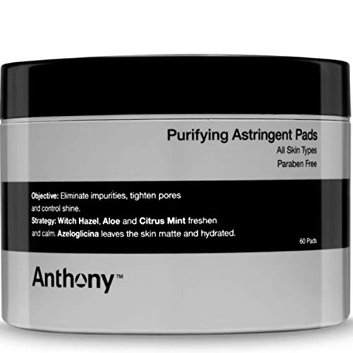 Anthony Astringent Toner Pads, 60 Count