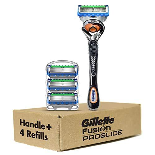 Gillette Proglide Shield Men's Razor Handle + 4...