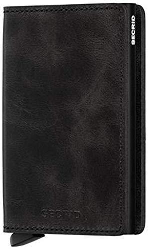 Secrid Slim Wallet Leather Vintage Black, Rfid...
