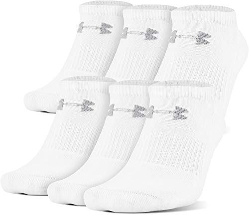 Under Armour Adult Cotton No Show Socks, 6-Pairs ,...