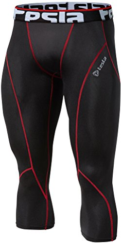 TSLA Men's Compression 3/4 Capri Pants Baselayer...