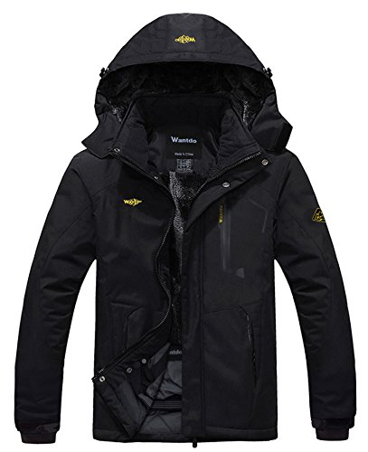 Wantdo Men's Waterproof Mountain Jacket Fleece...