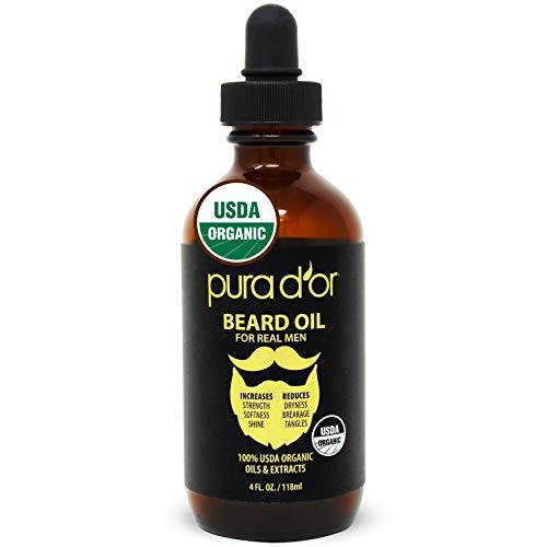 PURA D'OR Beard Oil (4oz / 118mL) USDA Organic...
