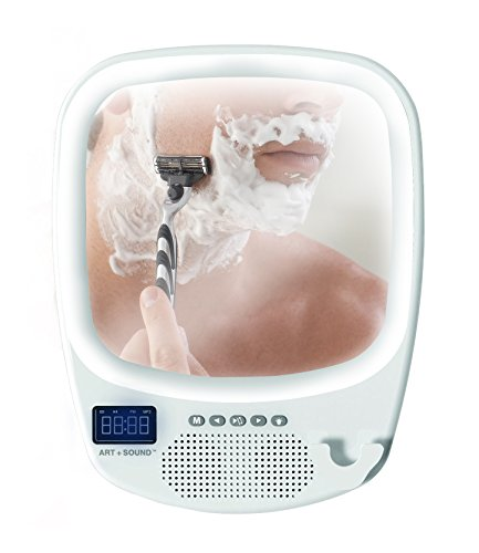 ART+SOUND AR6001WH Bluetooth Wireless Shower...