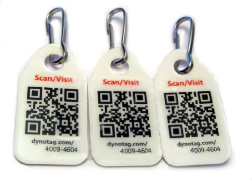 Dynotag Web Enabled Smart Micro Zipper Tags with...
