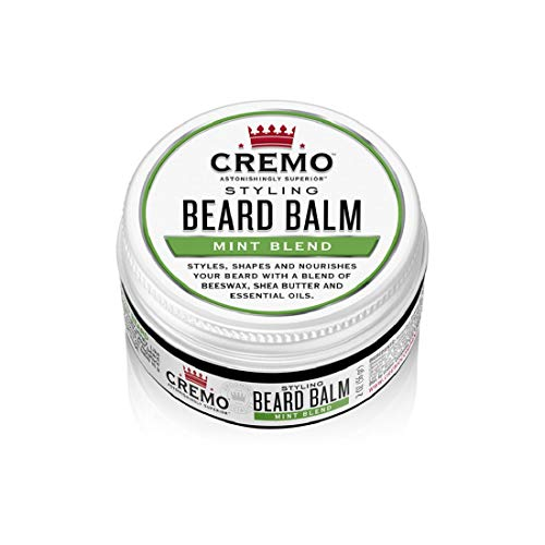 Cremo Mint Blend Styling Beard Balm, Nourishes,...