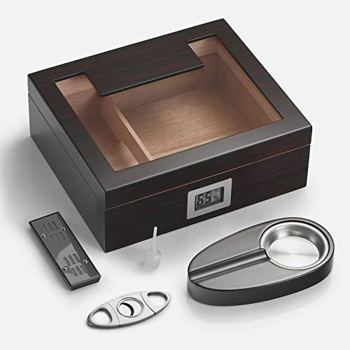 Woodronic Handmade Cigar Humidor with Digital...