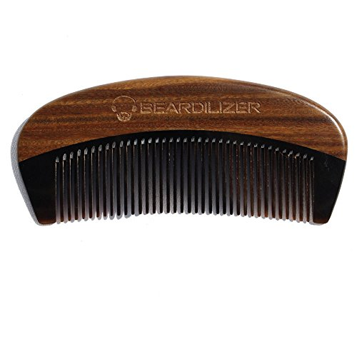 Beardilizer Beard Comb - 100% Natural Black Ox...