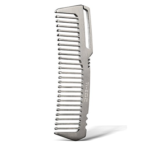 TI-EDC Titanium Hair Beared Comb Handmade Premium...