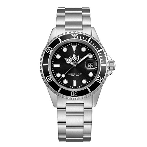 Phoibos Men's PX002C 300M Dive Watch Swiss Quartz...