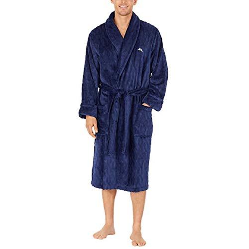 Tommy Bahama Men's Plush Robe (Blue, S/M)