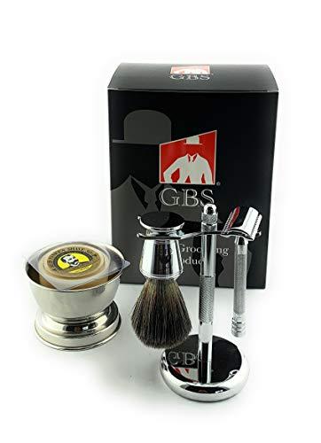 GBS Shaving Gift Set with Merkur Safety Razor,...