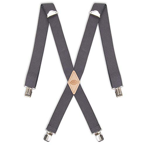 Dickies Men's 1-1/4 Solid Straight Clip Suspender,...